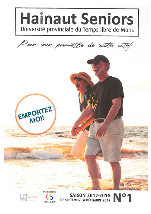 Brochure Hainaut seniors de Septembre à décembre 2017